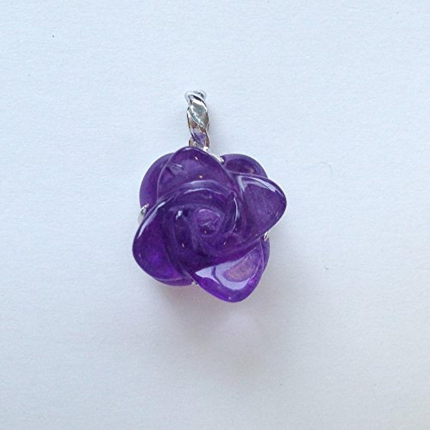 生産的関連付ける異常香る宝石SVアメシストペンダント通常¥26,800の所 (Ag925)