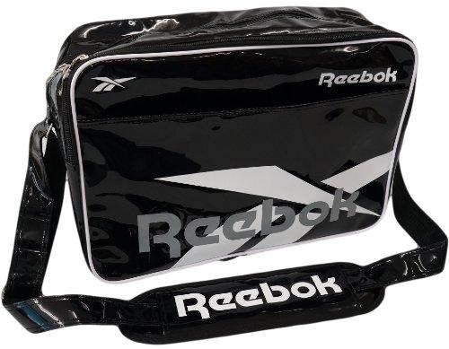 Reebok(リーボック) エナメル スポーツ ショルダー バッグ (BLACK/WHITE)