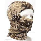 Dhana Style 3Way バラクラバ アーミー 目だし帽 ・ タクティカル フェイスマスク / ミリタリー ヘッドウェア ★ サバイバルゲーム・自転車・バイク・アウトドア BXB (タン)