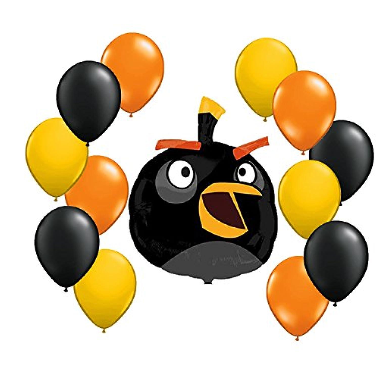 Angry Birdsブラックバルーンブーケ13 pc