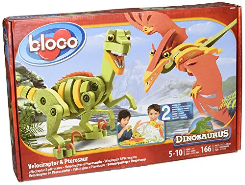 Wooky Bloco Dinosaurus Velociraptor and Pterosaur Building Set