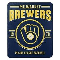 Northwest MLB ミルウォーキー・ブルワーズ 50x60 フリース・サウスパウデザインブランケット チームカラー ワンサイズ