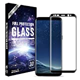 BEGALO Samsung Galaxy s8 3D 曲面 高感度タッチ 浮かない ケース干渉しない 気泡0で貼りやすい 日本旭硝子 全面ガラスフィルム 液晶保護 指紋防止 3Dラウンドエッジ 9H 高透明 ブラック 3D-GS8-BLK569