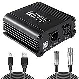 Tonor ファイタム電源 48v チャンネル コンパクト XLRオーディオケーブル マイク 音楽レコーディング機器に対応用