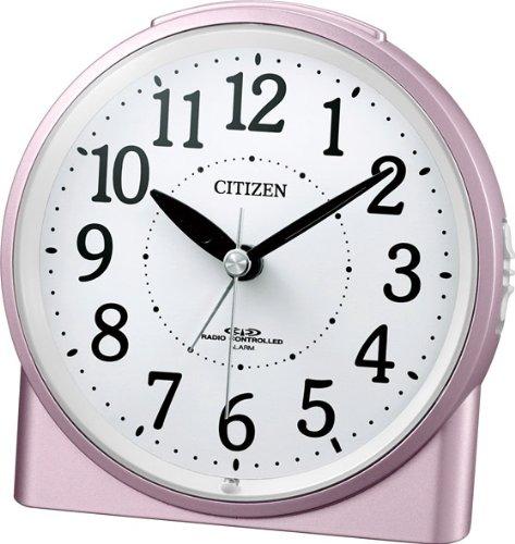 CITIZEN (シチズン) 目覚し時計 ネムリーナラピス (ピンクパール色) 電波時計 4RLA11-013