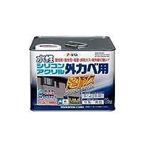 アサヒペン 水性シリコンアクリル外かべ用 ソフトオーカー 8KG 【まとめ買い3缶セット】