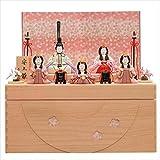 一秀 雛人形 木目込み人形 収納飾り 五人飾り I-10