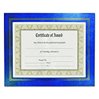 Leatherette Document Frame, 8-1/2 x 11, Blue, Pack of Two (並行輸入品)