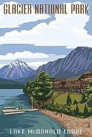 マクドナルドLake Lodge–グレイシャー国立公園、モンタナ 16 x 24 Giclee Print LANT-33458-16x24