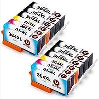 HP Photosmart 7510 5520 5510 6520 7520 6510 B110a 5524 5515 5525用HP 346 XL 364インクカートリッジ用交換用Uoopo HP Deskjet 3070 A