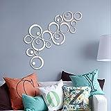 (テウタンキ)インテリアステッカー部屋の装飾の円鏡 ミラー ウォール ステッカー