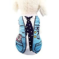 可愛い 小中型犬服Tシャツ ドッグウェア ベスト お散歩お出かけウェアに 春夏服 パジャマ サロペット風