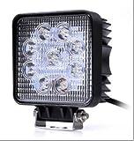 【マート ヴァスト】LEDワークライト(作業灯) 27W(12V-24V対応) 広角タイプ トラック用品、車外灯