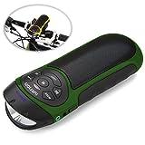Ivation ポータブル Bluetooth自転車ステレオスピーカー + サイクルライト(グリーン) FMラジオ/通話機能/SDカードスロット/MP3プレーヤー/高輝度LEDフラッシュライト内蔵 バイクマウント付属 あらゆるポータブルワイヤレスデバイスに対応可 ご家庭, オフィス, サイクリングなどにピッタリアイテム
