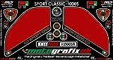 MOTOGRAFIX(モトグラフィックス) ボディパッド SPORT CLASSIC1000/1000S KNEE レッド MT-KD003R