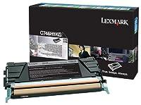 Lexmark c746h1kg OEMトナー–c746C748高イールドブラックReturnプログラムトナー(12000Yield)