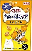 チャオ (CIAO) 猫用おやつ ちゅ~るビッツ とりささみ 12g×3個入