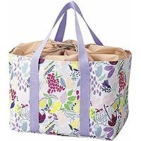メトリックス Bloom Flower ショッピング クール 保冷 バッグ かわいい パープル レジカゴ ぴったり 大容量 サイズ es