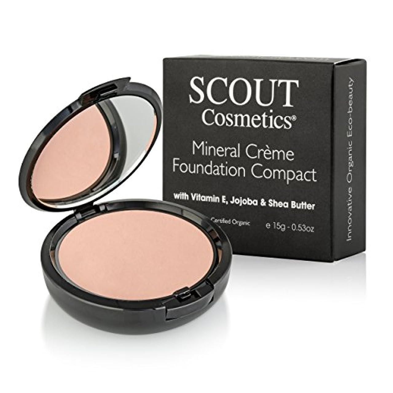 昆虫前任者応答SCOUT Cosmetics Mineral Creme Foundation Compact SPF 15 - # Shell 15g/0.53oz並行輸入品