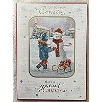いとこat Christmas Snow Manクリスマスカードby Carte Blanche