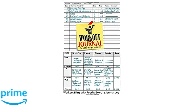 amazon workout journal workout diary with food exercise journal