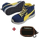 PUMA ジャパン PUMA(プーマ) 安全靴 ライダー Blue Mid 28.0cm ジャパンモデル ポーチ付 63.351.0