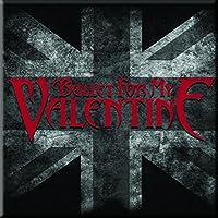 Bullet For My Valentine 冷蔵庫用マグネット UK Flag band logo 新しい 公式 76mm x 76mm