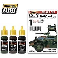 AmmoのMig NATOカラーセットアクリル色3 Jars 17 ml # 7114