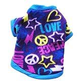 Gogatu 犬 スウェットシャツ フリース ペット 猫 愛 心 レター 素色 ファッション 簡約