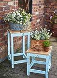 手づくりのスタンドに季節の花を  素敵に飾る小さな庭 画像