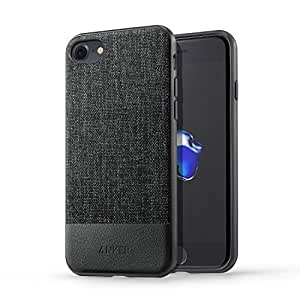 【iPhone 7専用設計】 Anker SlimShell Bright iPhone 7用 超軽量 ファブリック保護ケース (ブラック)