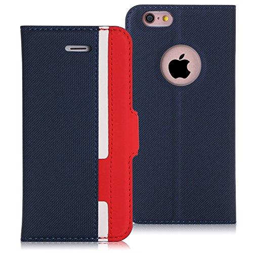 iPhone6s ケース iPhone6ケース,Fyy 100%手作り 高級PUレザー ケース 手帳型 保護ケース カード収納ホルダー付き 横置きスタンド機能付き マグネット式 iphone6s ケース 手帳型