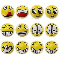 HuntGold 12pcsソフトFun Face Balls [ストレスリリーフ]リラックスEmotionalおもちゃホームオフィス休日、面白い装飾アクセサリー、素晴らしいギフト