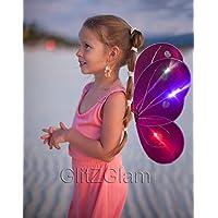 [グリッズグラムボディーアート]GlitZGlam Body Art Butterfly Wing / Fairy Wing Costume for Glow in the Dark ButterflyWingsFuschia [並行輸入品]