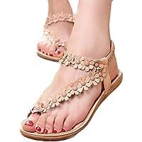 Misaky Women's Clip Toe Sandals Beach Flat Sandals