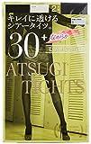 (アツギ) ATSUGI タイツ 30D アツギ タイツ (ATSUGI TIGHTS) 30デニール 〈2足組3セット〉 FP78312P 110 チャコール M~L