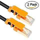 イーサネットケーブル VANDESAIL CAT7 LAN ネットワークケーブル RJ45 STP ギガビット 10/100/1000Mbit/s ゴールドメッキプラグ (3m, アップグレード強化版、2本)