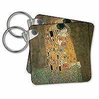 KC 127171絵画のBLNアートコレクション–The Kiss by Gustave Klimt–キーチェーン set of 2