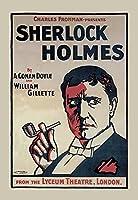 """シャーロック・ホームズ: The Lyceum Theatre、ロンドンFineアートキャンバス印刷( 20"""" x30"""" )"""