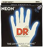 DR Strings NWB6-30 DR NEON 6 Bass Guitar String Medium White [並行輸入品]