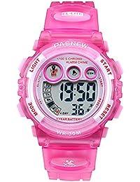 子供たちのスポーツのデジタルLED 30M防水アラームストップウォッチ子供の腕時計子供の腕時計