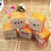 Happy Faces – Bread Bun Squishy – Squishyパン – ソフトおもちゃ – ホームキッチン装飾 – Happy Faces – Squishyケーキ – 10 cm Squishyトーストパンランダムキュート可愛い絵文字おもちゃ電話バッグストラップペンダント