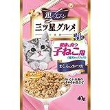 銀のスプーン パウチ プレミアム 三ツ星グルメ パウチ 健康に育つ子猫用 まぐろ入りかつお 40g×12コ