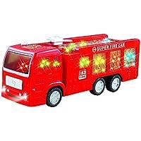 セルフDriving Bump and Go Fire Engine Rescue Truck Toy for Boys & Girls with美しい3dライトand Sounds – For Age 1 – 8 Years Old