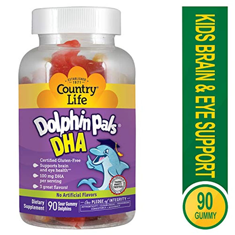 持続的鰐比類のない海外直送品Country Life Dolphin Pals DHA Gummies For Kids, 90 ct