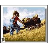 ARTomo【アトモ】パズル油絵『フレーム付き』数字 油絵 DIY 塗り絵 本格的な油絵が誰でも簡単に楽しく描ける 40x50cm (ぬいぐるみを連れて冒険へ)