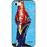 iPhone8 iPhoneケース (ハードケース) [カード収納/耐衝撃/薄型] Nijisuke (ニジスケ) ヒクイドリ CollaBorn (iPhone7対応)