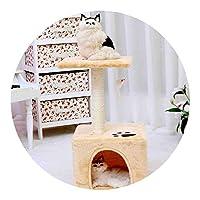 楽しい猫クライミングフレーム猫猫クライミングフレームシンプルな二層猫クライミングフレーム材料,30×30×60