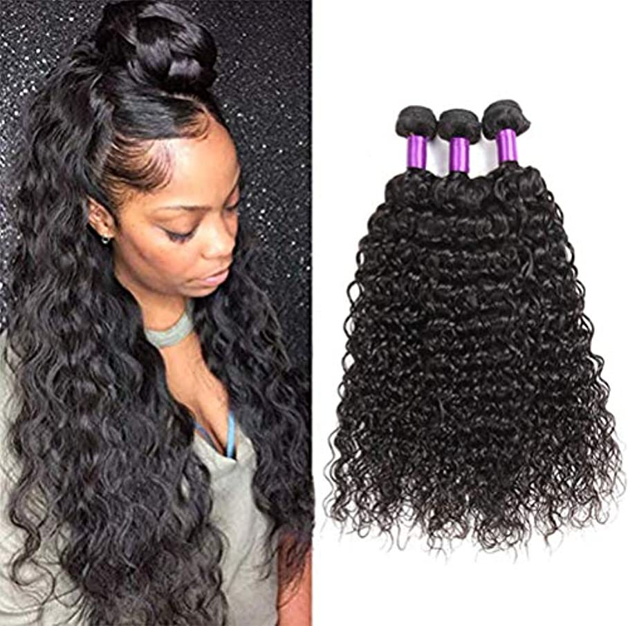 不利益飼料ユーザー前頭水の波が付いている10Aブラジルのバージンの毛の束を編む閉鎖閉鎖の湿気があるそして波状のバージンの人間の毛髪が付いている1束