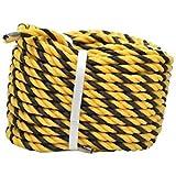 標識ロープ平巻 9mm×30m 黄色と黒で目立つ色のロープです